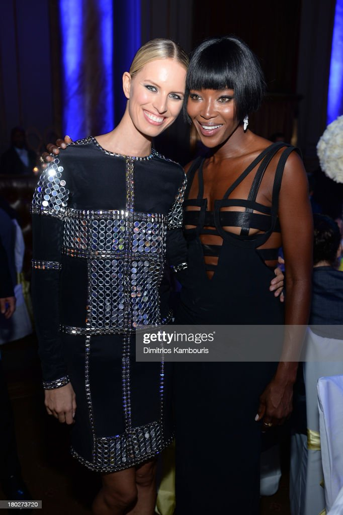 Karolina Kurkova and Naomi Campbell attend the Novak Djokovic Foundation New York dinner at Capitale on September 10, 2013 in New York City.