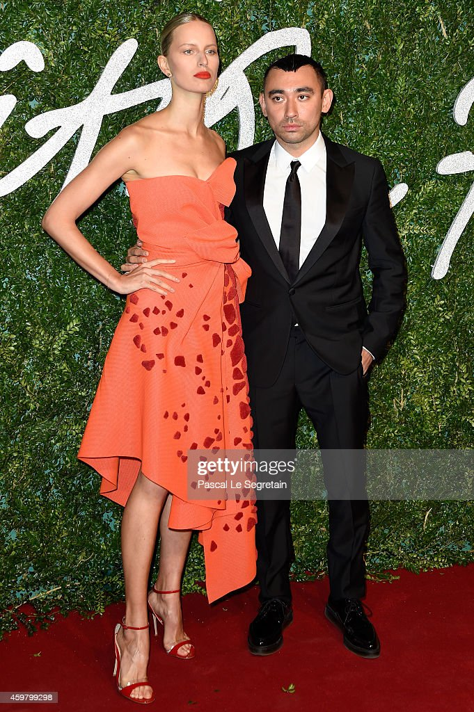 <a gi-track='captionPersonalityLinkClicked' href=/galleries/search?phrase=Karolina+Kurkova&family=editorial&specificpeople=202513 ng-click='$event.stopPropagation()'>Karolina Kurkova</a> and <a gi-track='captionPersonalityLinkClicked' href=/galleries/search?phrase=Nicola+Formichetti&family=editorial&specificpeople=7376980 ng-click='$event.stopPropagation()'>Nicola Formichetti</a> attend the British Fashion Awards at London Coliseum on December 1, 2014 in London, England.