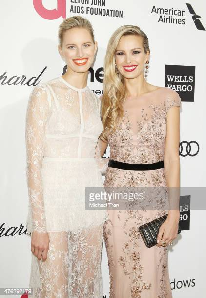 Karolina Kurkova and Petra Nemcova arrive at the 22nd Annual Elton John AIDS Foundation's Oscar viewing party held on March 2 2014 in West Hollywood...
