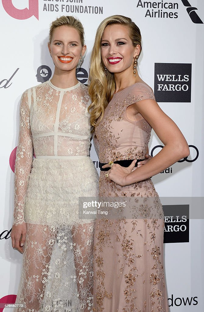 Karolina Kurkova and Petra Nemcova arrive for the 22nd Annual Elton John AIDS Foundation's Oscar Viewing Party held at West Hollywood Park on March 2...