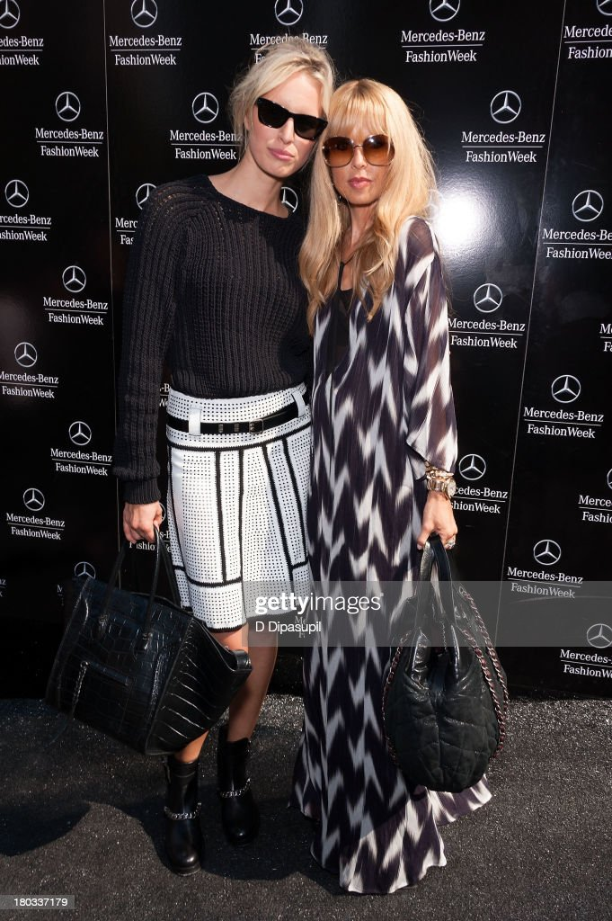 Karolina Kurkova (L) and Rachel Zoe attend Mercedes-Benz Fashion Week Spring 2014 at Lincoln Center for the Performing Arts on September 11, 2013 in New York City.