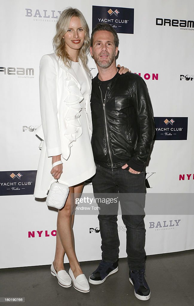 <a gi-track='captionPersonalityLinkClicked' href=/galleries/search?phrase=Karolina+Kurkova&family=editorial&specificpeople=202513 ng-click='$event.stopPropagation()'>Karolina Kurkova</a> and Scott Lipps, CEO of One Management, attend the 'Popplicks: Plus One' Book Launch Event on September 9, 2013 in New York, United States.