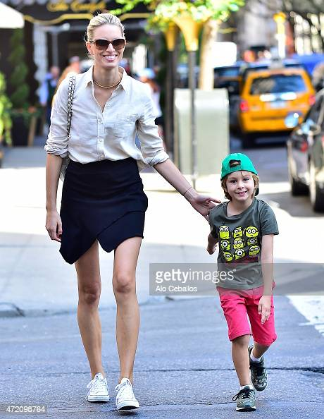 Karolina Kurkova and Tobin Jack Drury are seen on May 3 2015 in New York City