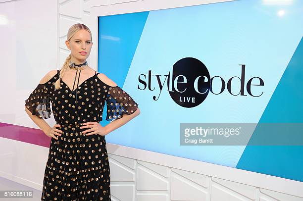 Karolina Kurkova appears on Amazon's Style Code Live on March 16 2016 in New York City