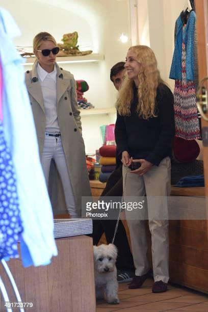 Karolina Kurkova Archie Drury and Franca Sozzani are seen on May 17 2014 in Portofino Italy