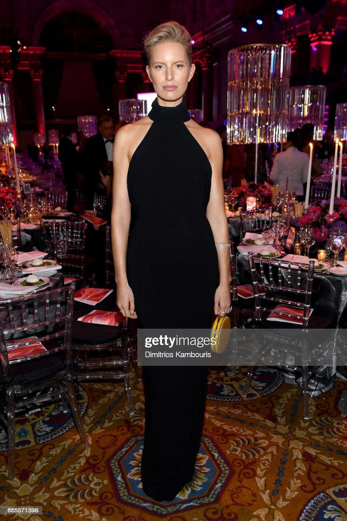 Karolina Kurkova arrives at Gabrielle's Angel Foundation's Angel Ball 2017 at Cipriani Wall Street on October 23, 2017 in New York City.
