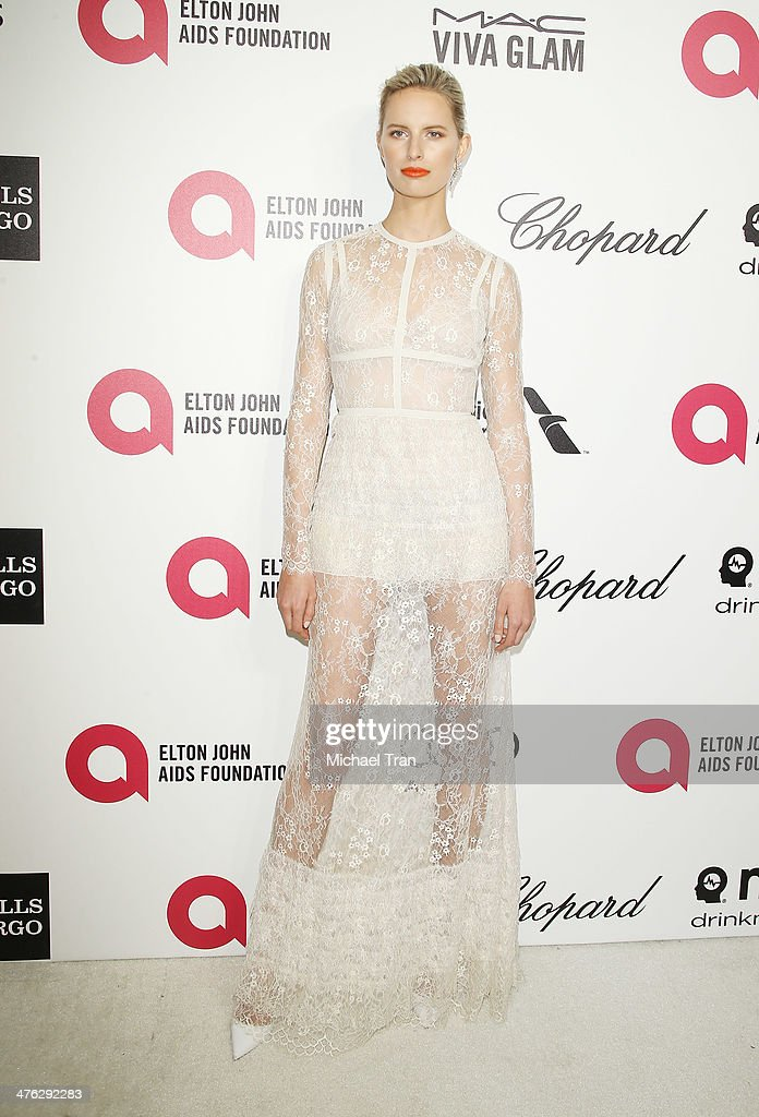 Karolina Kurkova arrives at the 22nd Annual Elton John AIDS Foundation's Oscar viewing party held on March 2 2014 in West Hollywood California