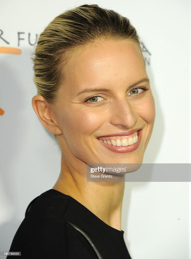 Karolina Kurkova arrives at the Gelila And Wolfgang Puck's Dream For Future Africa Foundation Gala at Spago on October 24, 2013 in Beverly Hills, California.