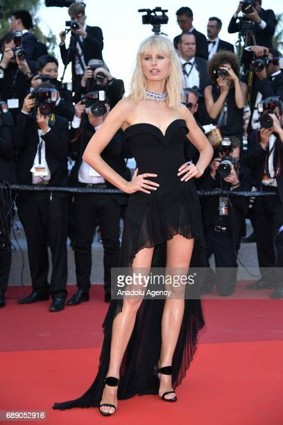 Karolina Kurkova arrives for the film 'Based on a True Story' out of competition at the 70th annual Cannes Film Festival in Cannes France on May 27...