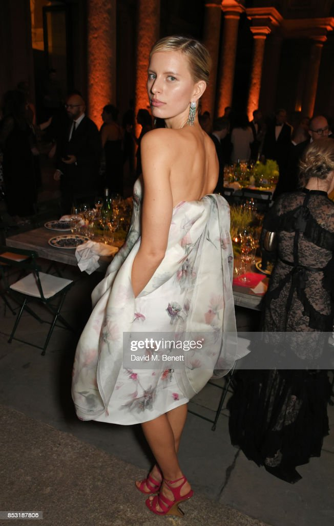 Karolina Kurkova attends a private dinner hosted by Livia Firth following the Green Carpet Fashion Awards, Italia, at Palazzo Marino on September 24, 2017 in Milan, Italy.