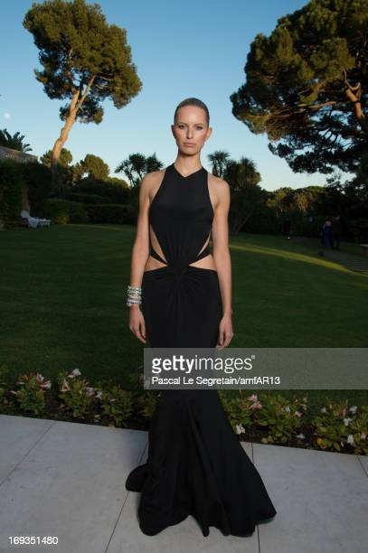 Karolina Kurkova attends amfAR's 20th Annual Cinema Against AIDS during The 66th Annual Cannes Film Festival at Hotel du CapEdenRoc on May 23 2013 in...