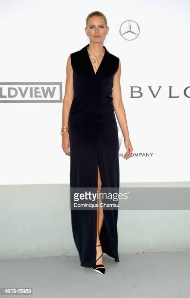 Karolina Kurkova attends amfAR's 21st Cinema Against AIDS Gala Presented By WORLDVIEW BOLD FILMS And BVLGARI at Hotel du CapEdenRoc on May 22 2014 in...