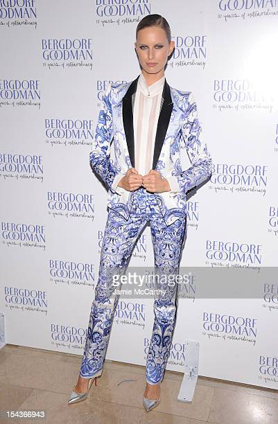 Karolina Kurkova attends Bergdorf Goodman's 111th anniversary celebration at the Plaza Hotel on October 18 2012 in New York City