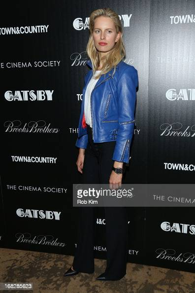 Karolina Kurkova attends Brooks Brothers and Town Country with The Cinema Society host a screening of 'The Great Gatsby' at HBO Screening Room on May...