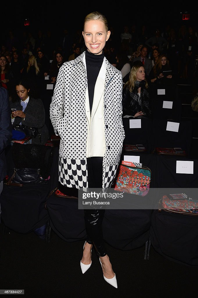 Karolina Kurkova attends Desigual fashion show during MercedesBenz Fashion Week Fall 2014 at The Theatre at Lincoln Center on February 6 2014 in New...