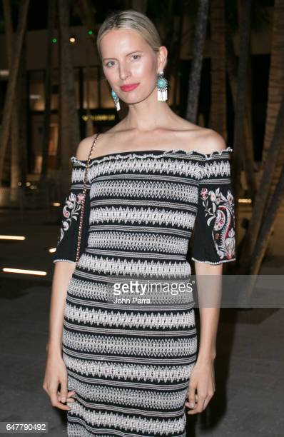 Karolina Kurkova attends Estefan Kitchen restaurant grand opening at the Palm Court in the Design District on March 3 2017 in Miami Florida