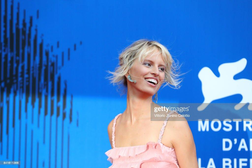 Karolina Kurkova attends The 1st Franca Sozzani Award during the 74th Venice Film Festival at Sala Giardino on September 1, 2017 in Venice, Italy.