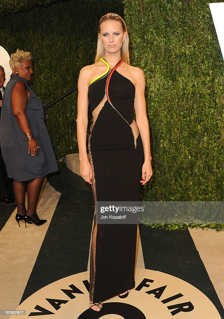 Karolina Kurkova attends the 2013 Vanity Fair Oscar party at Sunset Tower on February 24, 2013 in West Hollywood, California.