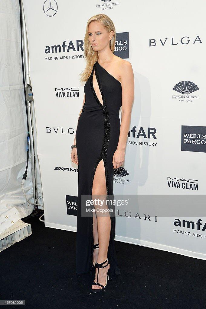 Karolina Kurkova attends the 2014 amfAR New York Gala at Cipriani Wall Street on February 5 2014 in New York City