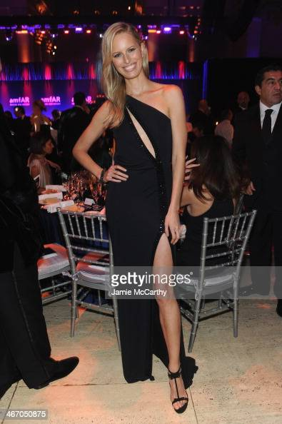 Karolina Kurkova attends the 2014 amfAR New York Gala at Cipriani Wall Street on February 5 2014 in New York City