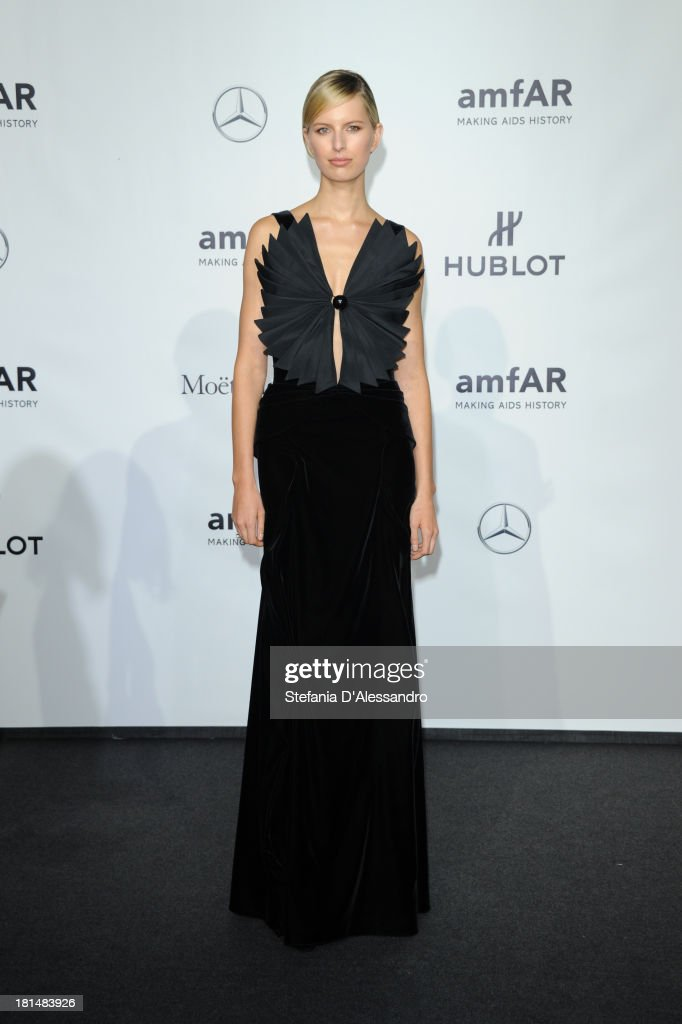 <a gi-track='captionPersonalityLinkClicked' href=/galleries/search?phrase=Karolina+Kurkova&family=editorial&specificpeople=202513 ng-click='$event.stopPropagation()'>Karolina Kurkova</a> attends the amfAR Milano 2013 Gala as part of Milan Fashion Week Womenswear Spring/Summer 2014 at La Permanente on September 21, 2013 in Milan, Italy.