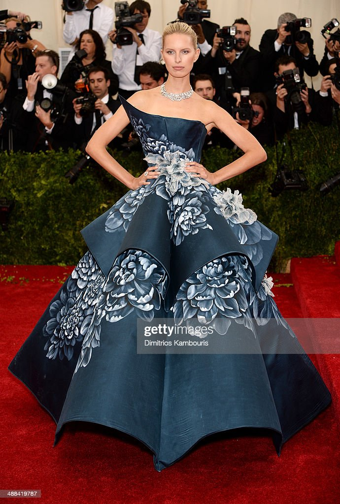 Karolina Kurkova attends the 'Charles James: Beyond Fashion' Costume Institute Gala at the Metropolitan Museum of Art on May 5, 2014 in New York City.