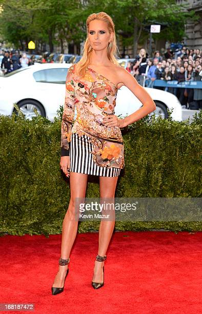 Karolina Kurkova attends the Costume Institute Gala for the 'PUNK Chaos to Couture' exhibition at the Metropolitan Museum of Art on May 6 2013 in New...