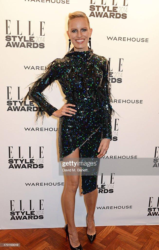 Karolina Kurkova attends the Elle Style Awards 2014 at One Embankment on February 18, 2014 in London, England.