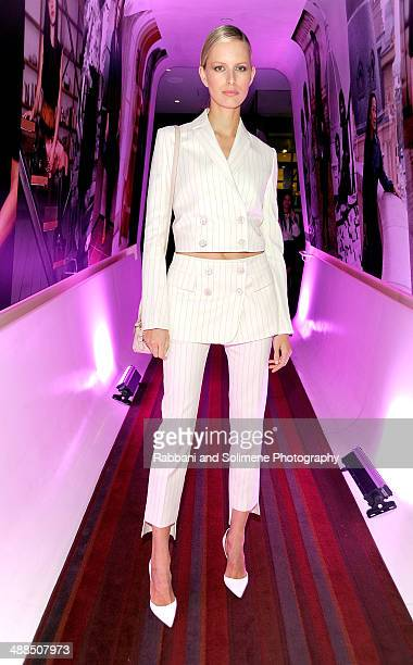 Karolina Kurkova attends the Ferragamo dinner celebrating the launch of the Fiamma Handbag and Film Series at Casa Lever on May 6 2014 in New York...