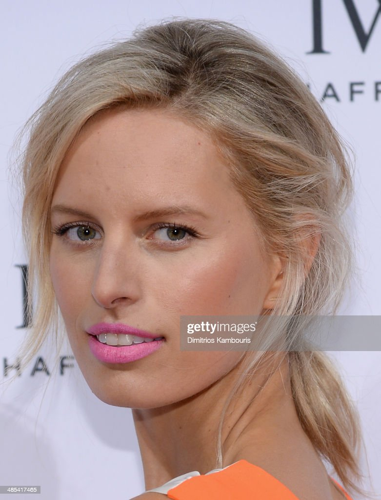 Karolina Kurkova attends the 'For the Love of Cinema' dinner hosted by IWC Schaffhausen and Tribeca Film Festival at Urban Zen on April 17 2014 in...