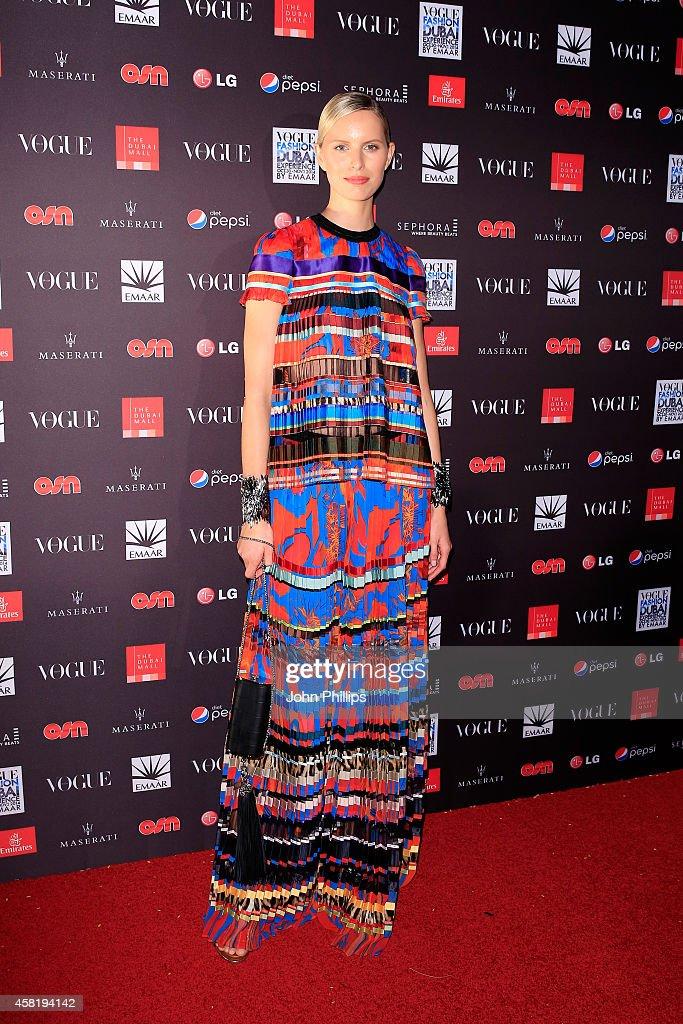Karolina Kurkova attends the Gala Event during the Vogue Fashion Dubai Experience on October 31 2014 in Dubai United Arab Emirates