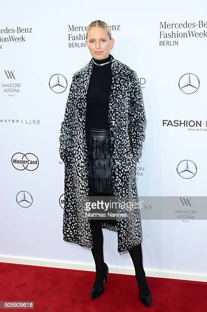 Karolina Kurkova attends the Guido Maria Kretschmer show during the MercedesBenz Fashion Week Berlin Autumn/Winter 2016 at Brandenburg Gate on...