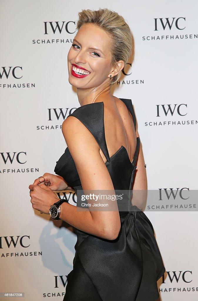 Karolina Kurkova attends the IWC Gala Dinner during the Salon International de la Haute Horlogerie 2015 at the Palexpo on January 20 2015 in Geneva...