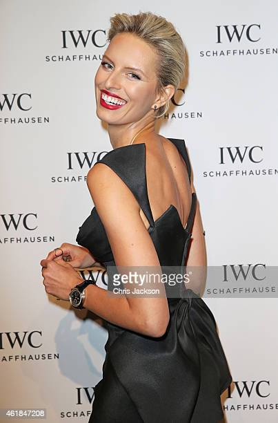 Karolina Kurkova attends the IWC Gala Dinner during the Salon International de la Haute Horlogerie 2015 at the Palexpo on January 20 2015 in Geneva...