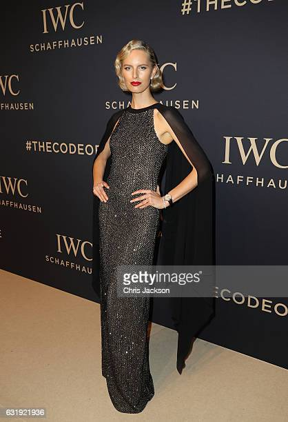 Karolina Kurkova attends the IWC Schaffhausen 'Decoding the Beauty of Time' Gala Dinner during the launch of the Da Vinci Novelties from the Swiss...