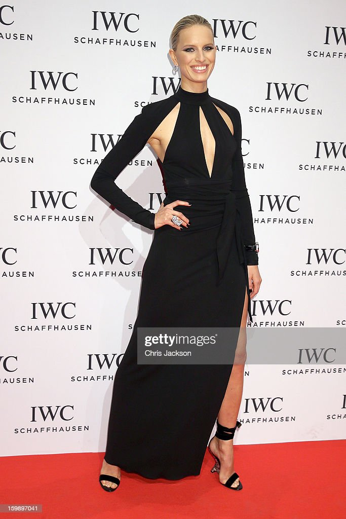<a gi-track='captionPersonalityLinkClicked' href=/galleries/search?phrase=Karolina+Kurkova&family=editorial&specificpeople=202513 ng-click='$event.stopPropagation()'>Karolina Kurkova</a> attends the IWC Schaffhausen Race Night event during the Salon International de la Haute Horlogerie (SIHH) 2013 at Palexpo on January 22, 2013 in Geneva, Switzerland.