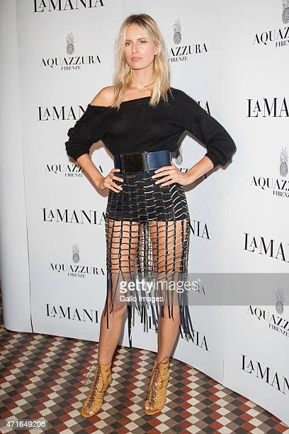 Karolina Kurkova attends the LaMania Fall/Winter 2015/2016 fashion show on April 28 2015 at Soho Factory in Warsaw Poland
