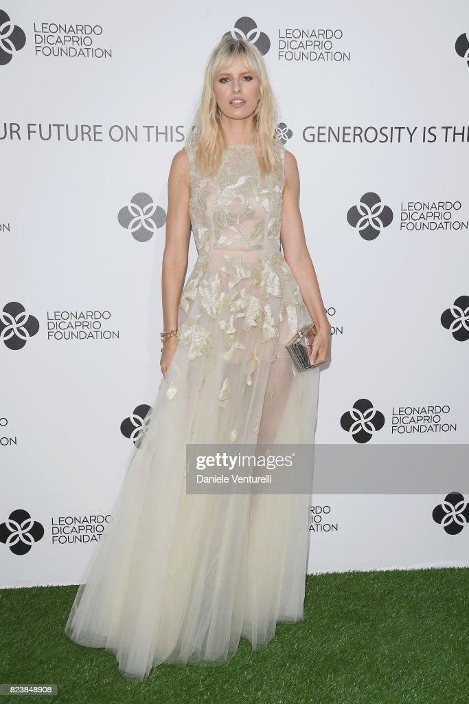 Karolina Kurkova attends the Leonardo DiCaprio Foundation 4th Annual Saint-Tropez Gala at Domaine Bertaud Belieu on July 27, 2017 in Saint-Tropez, France.