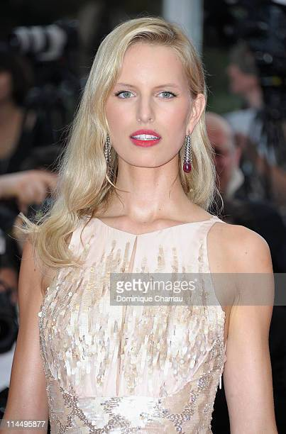 Karolina Kurkova attends the 'Les BienAimes' Premiere and Closing Ceremony during the 64th Annual Cannes Film Festival at the Palais des Festivals on...