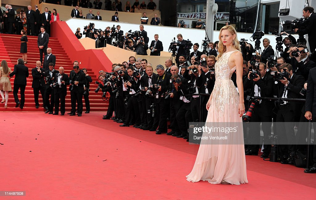 Karolina Kurkova attends the 'Les Bien-Aimes' Premiere and Closing Ceremony during the 64th Annual Cannes Film Festival at the Palais des Festivals on May 22, 2011 in Cannes, France.