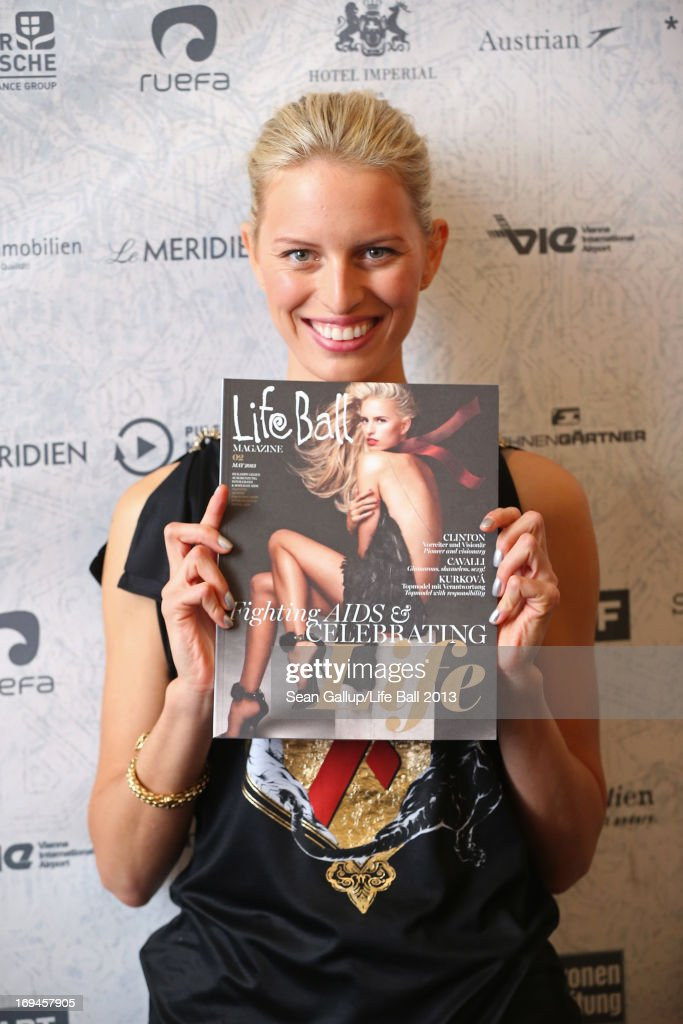 <a gi-track='captionPersonalityLinkClicked' href=/galleries/search?phrase=Karolina+Kurkova&family=editorial&specificpeople=202513 ng-click='$event.stopPropagation()'>Karolina Kurkova</a> attends the 'Life Ball 2013 - Press Conference' at Hotel Imperial Vienna on May 25, 2013 in Vienna, Austria.