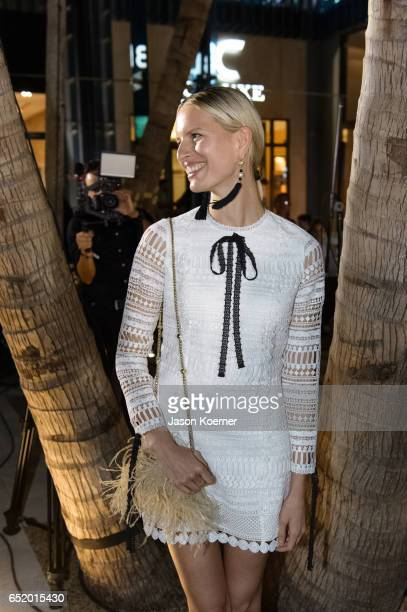 Karolina Kurkova attends the Miami Symphony Pop Up Series in Palm Court at the Design District on March 10 2017 in Miami Florida