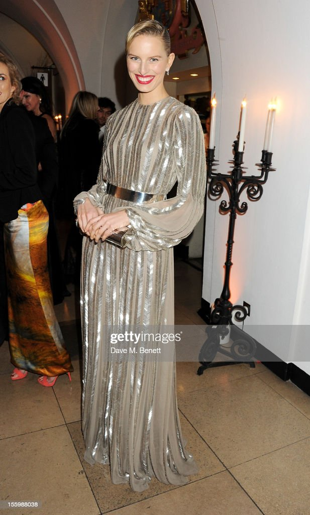Karolina Kurkova attends the Place For Peace dinner co-hosted by Ella Krasner and Forest Whitaker to support the Peace Earth Foundation in association with Star Diamond at Banqueting House on November 10, 2012 in London, England.