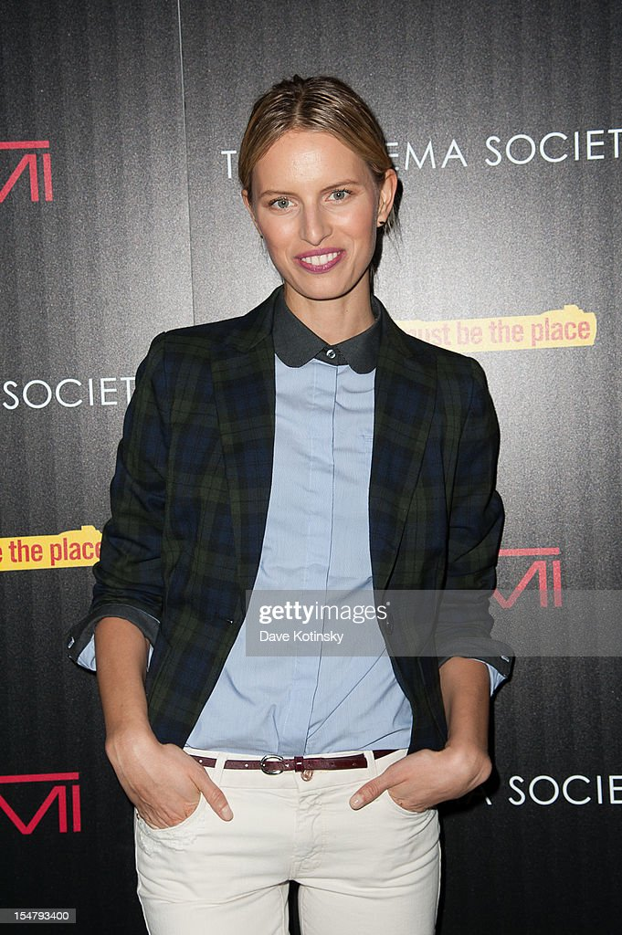 Karolina Kurkova attends The Weinstein Company With The Cinema Society And Tumi Host A Screening Of 'This Must Be the Place' at Tribeca Grand Hotel on October 25, 2012 in New York City.