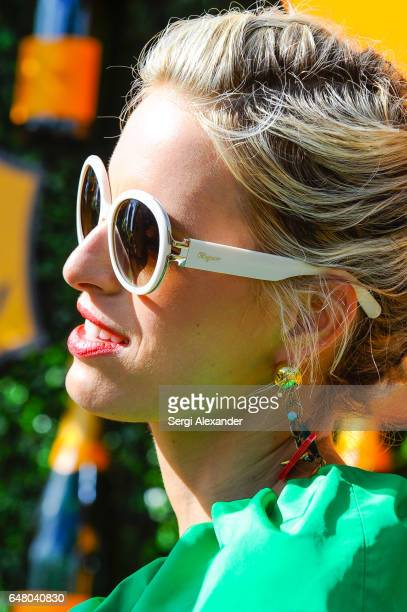 Karolina Kurkova attends Veuve Clicquot hosts Third Annual Clicquot Carnaval supporting the Perez Art Museum Miami in Museum Park on March 4 2017 in...