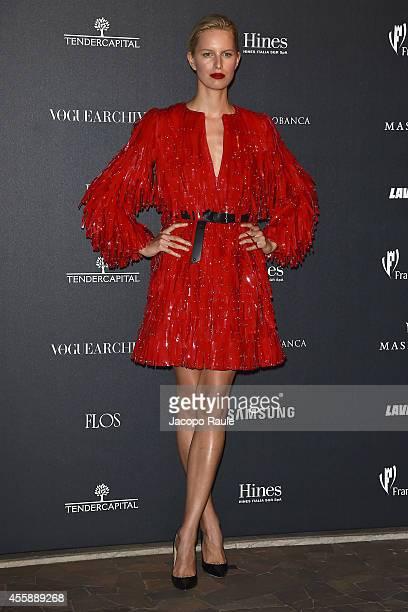 Karolina Kurkova attends Vogue Italia 50th Anniversary during Milan Fashion Week Womenswear Spring/Summer 2015 on September 21 2014 in Milan Italy