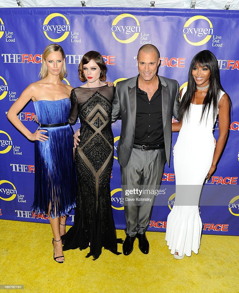 Karolina Kurkova, Coco Rocha, Nigel Barker, and Naomi Campbell attend 'The Face' Series Premiere at Marquee New York on February 5, 2013 in New York City.