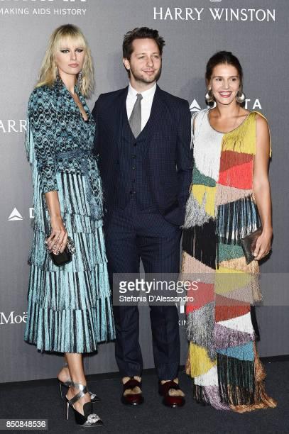 Karolina Kurkova Derek Blasberg and Margherita Missoni walk the red carpet of amfAR Gala Milano on September 21 2017 in Milan Italy