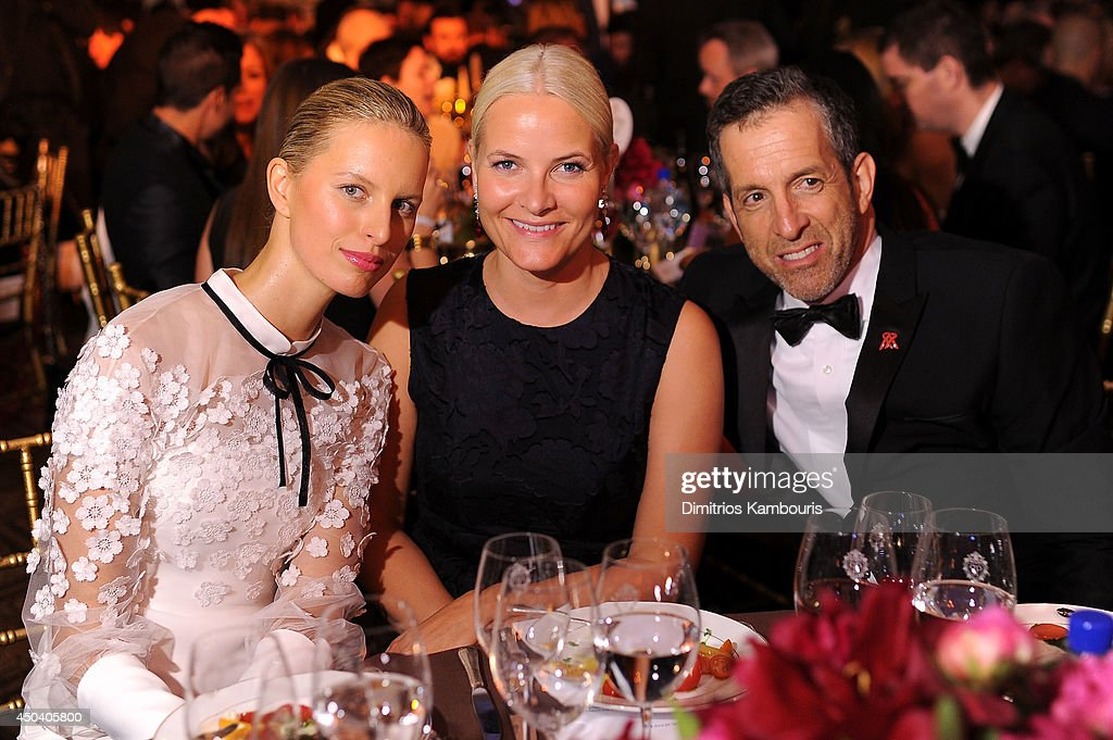 Karolina Kurkova, HRH Crown Princess Mette-Marit of Norway and Designer Kenneth Cole attend the amfAR Inspiration Gala New York 2014 at The Plaza Hotel on June 10, 2014 in New York City.