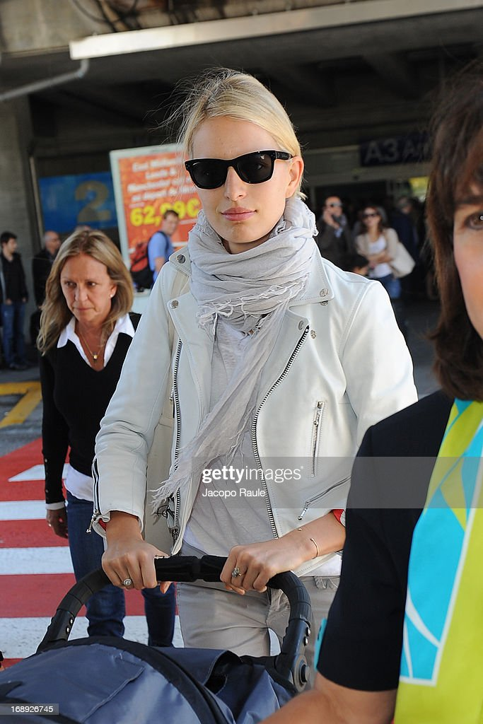<a gi-track='captionPersonalityLinkClicked' href=/galleries/search?phrase=Karolina+Kurkova&family=editorial&specificpeople=202513 ng-click='$event.stopPropagation()'>Karolina Kurkova</a> is seen arriving at Nice airport during The 66th Annual Cannes Film Festival on May 17, 2013 in Nice, France.